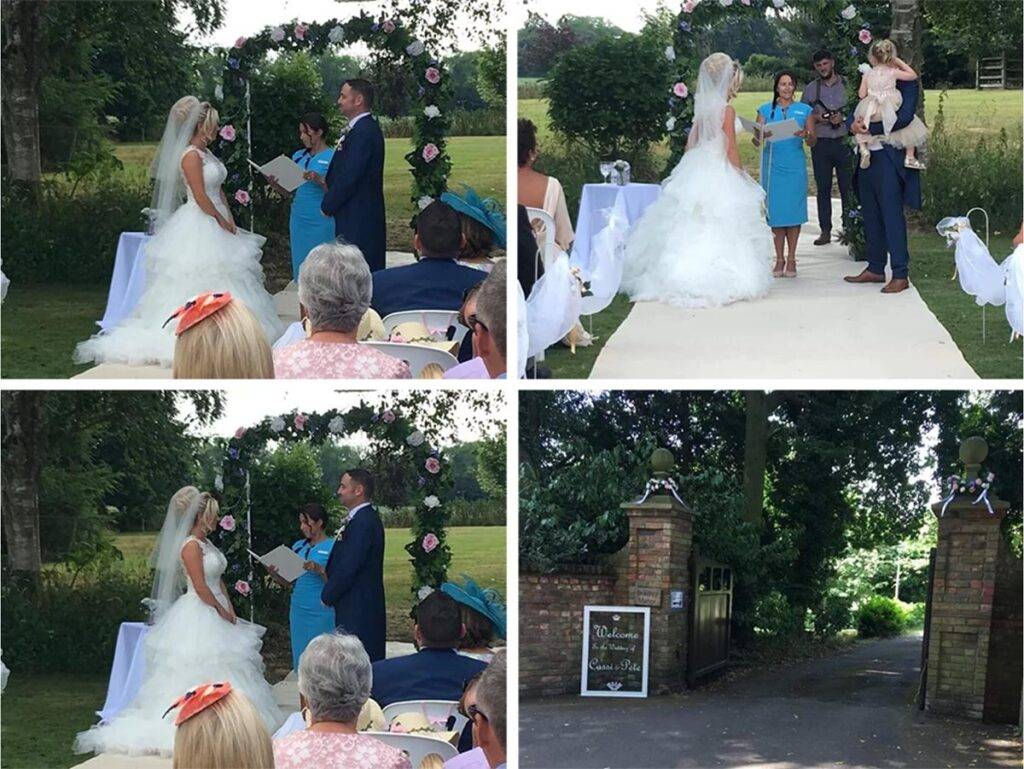 A celebrant wedding in Bradley Manor, Lincolnshire.