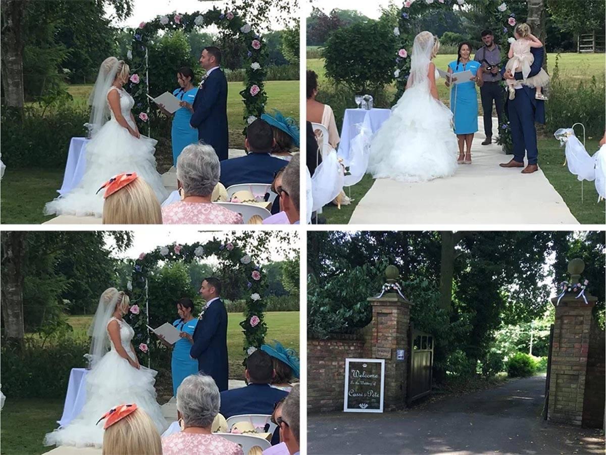 A celebrant wedding in Bradley Manor, Lincolnshire