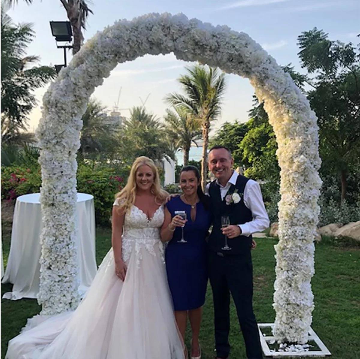 Wedding celebrant Jenny with Bride and Groom